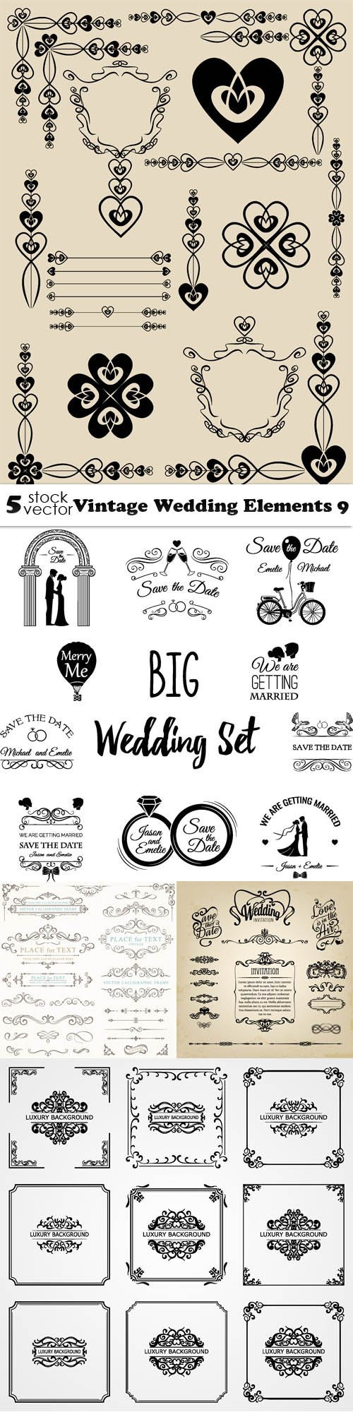 Vectors - Vintage Wedding Elements 9