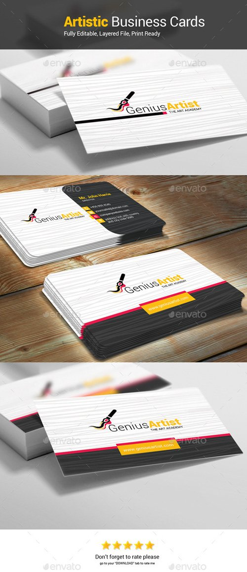 GeniusArtist_Business Cards 12103186
