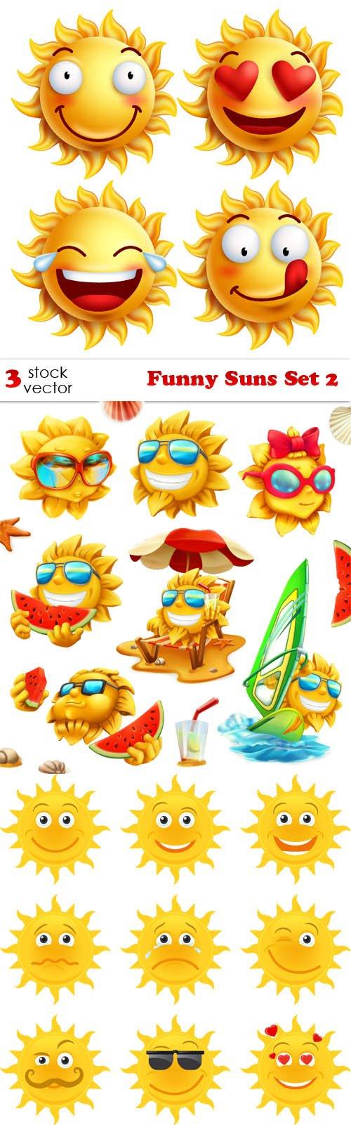 Vectors - Funny Suns Set 2