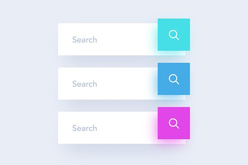 3 Colored Search Field