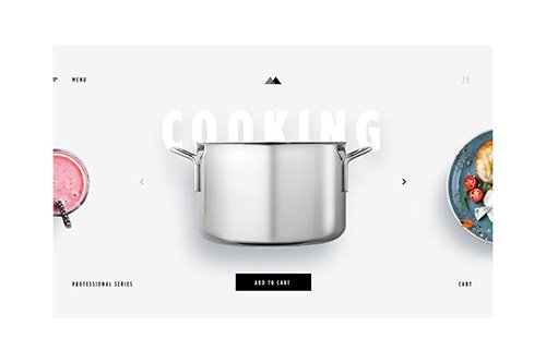 eCommerce - Cooking Items - Landing PAge
