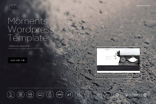 Moments v6.0 - One Page WordPress Theme - CM 1208896