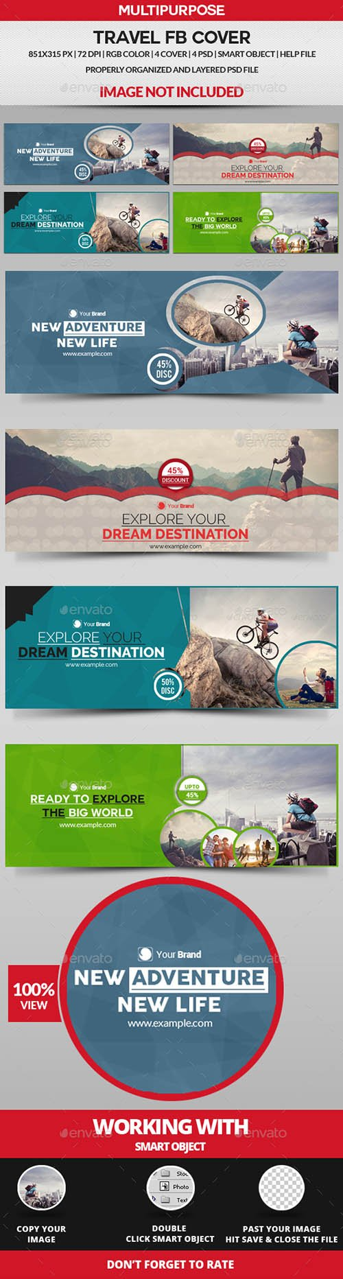 GraphicRiver - Travel Facebook Cover - 19390066