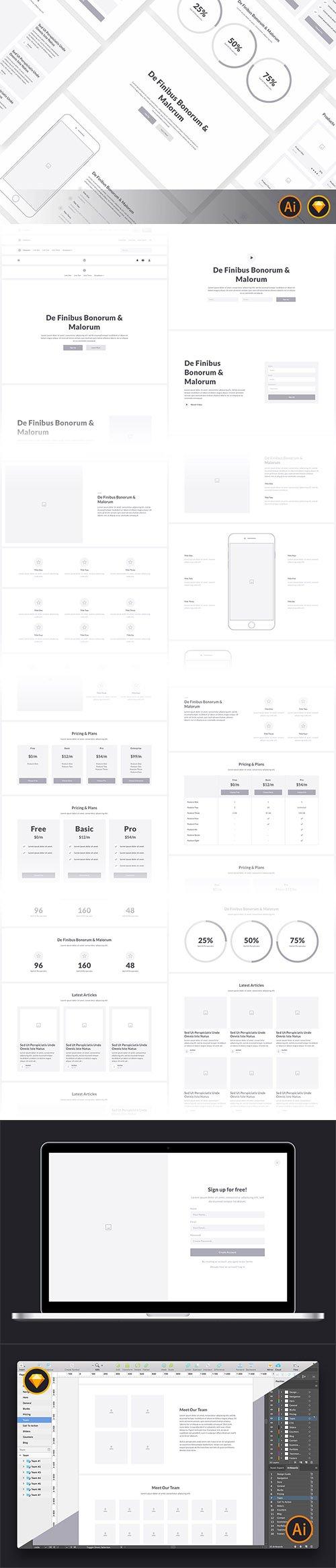 Web Wireframe Kit 2017