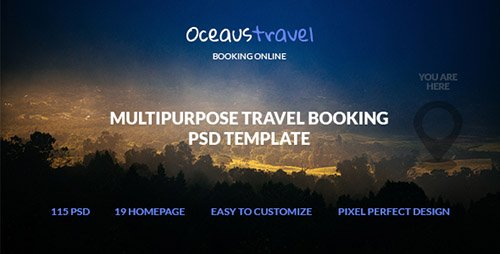 ThemeForest - OCEAUS v1.0 - Multipurpose Travel Booking PSD Template - 19532605