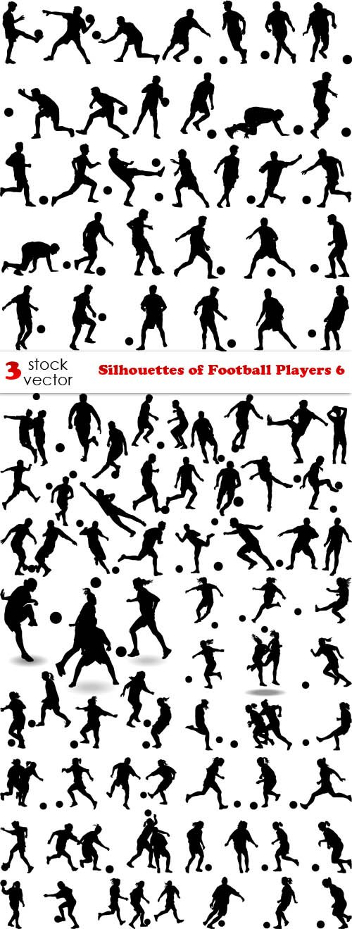 Vectors - Silhouettes of Football Players 6