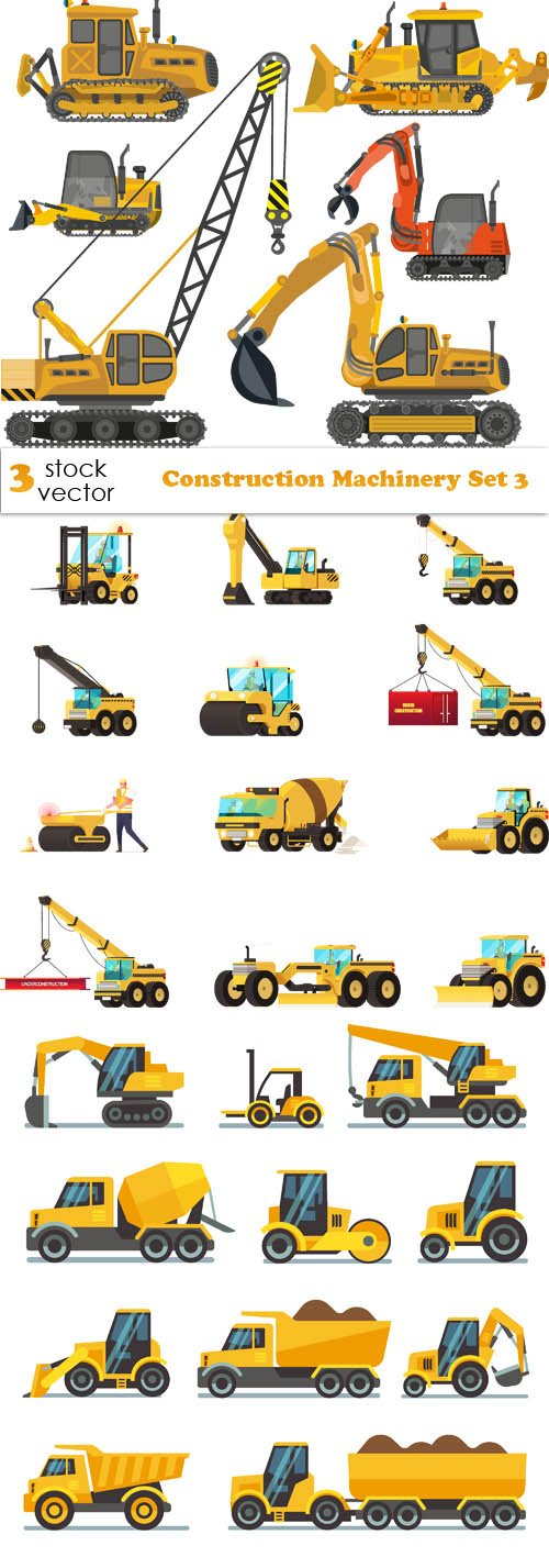 Vectors - Construction Machinery Set 3