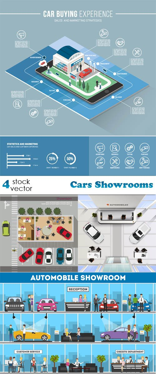 Vectors - Cars Showrooms