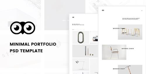 Owlfolio - Creative Portfolio PSD Template with PSD Files 19769115