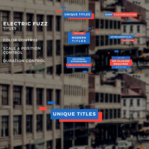 Electric Fuzz Titles - After Effects