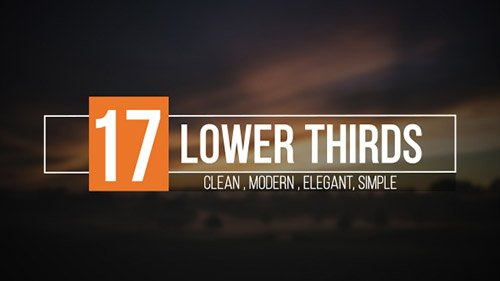 Lower Thirds 19154983 - Project for After Effects (Videohive)