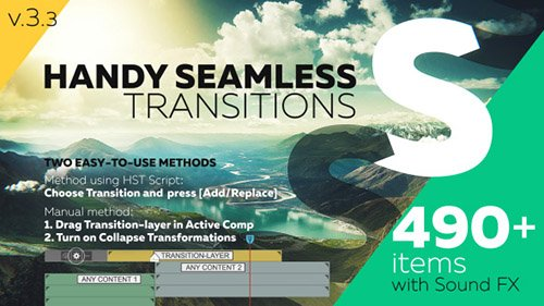 Handy Seamless Transitions | Pack & Script V3.3 and Project for After Effects (Videohive)
