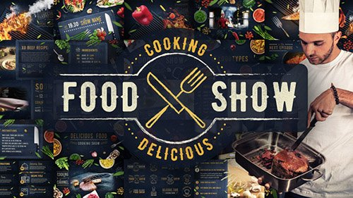 Cooking Delicious Food Show - Project for After Effects (Videohive)