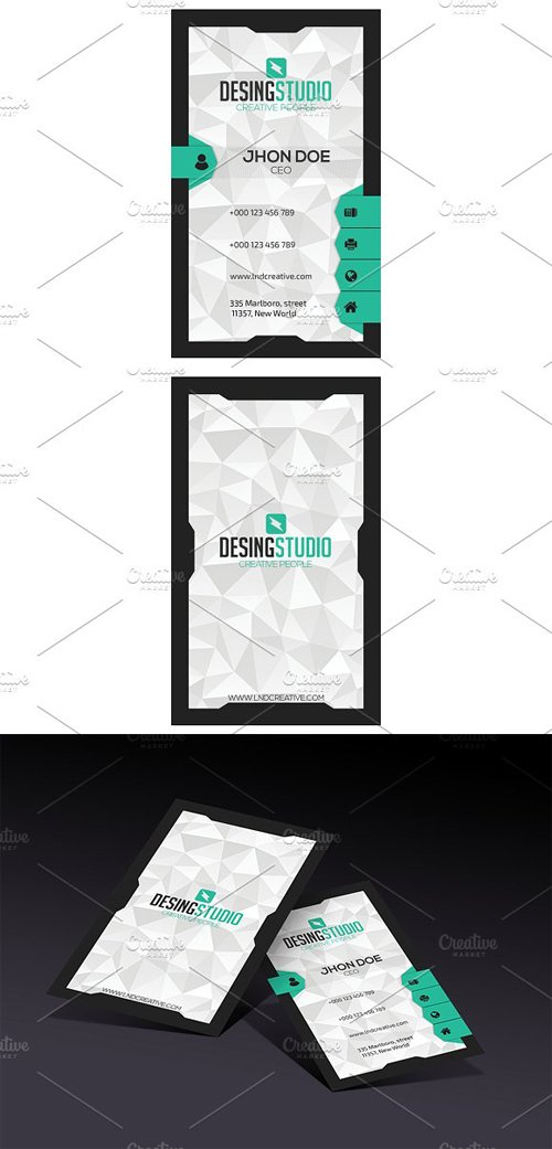 Design studio modern business card 1480293