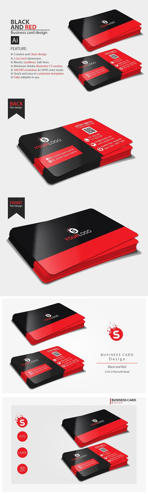 Corporate Business card design 1476426