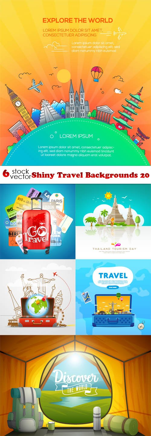 Vectors - Shiny Travel Backgrounds 20