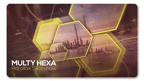 Parallax Slideshow Multi Hexa - Project for After Effects (Videohive)