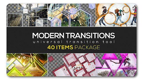 Modern Transition Pack | 40 items - Project for After Effects (Videohive)