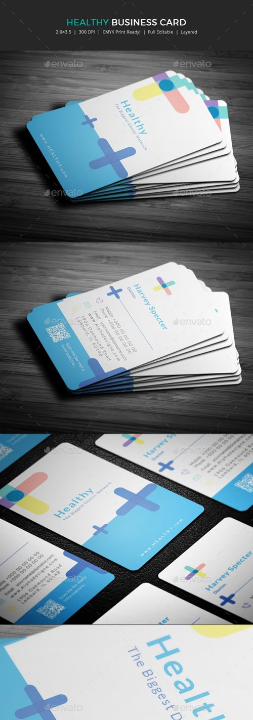 Healthy Doctor Business Card 19907131