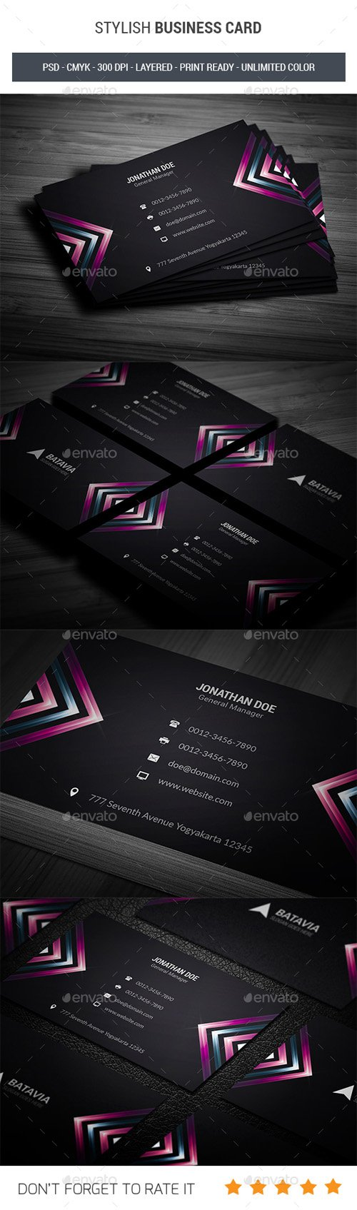 Stylish Business Card 19903656