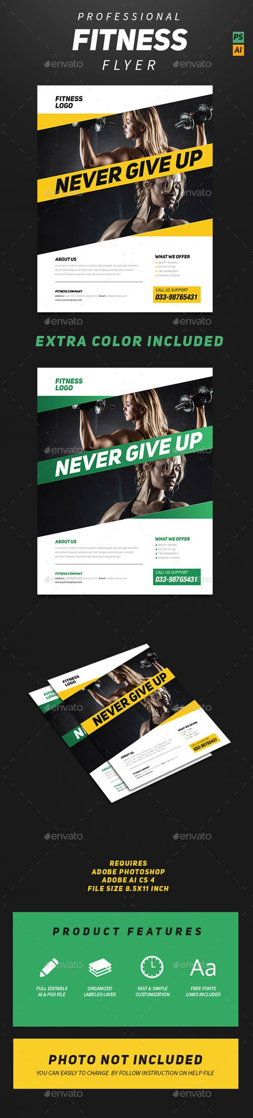 Professional Fitness Flyer 14041614