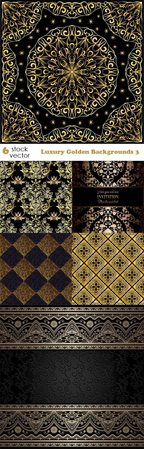 Vectors - Luxury Golden Backgrounds 3
