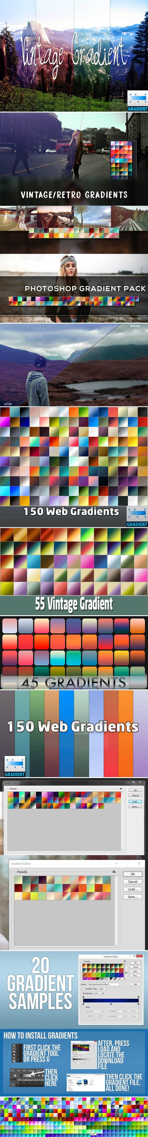 700+ Photoshop Gradients Collection