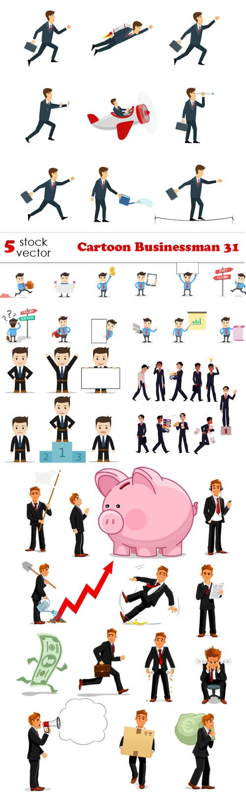Vectors - Cartoon Businessman 31