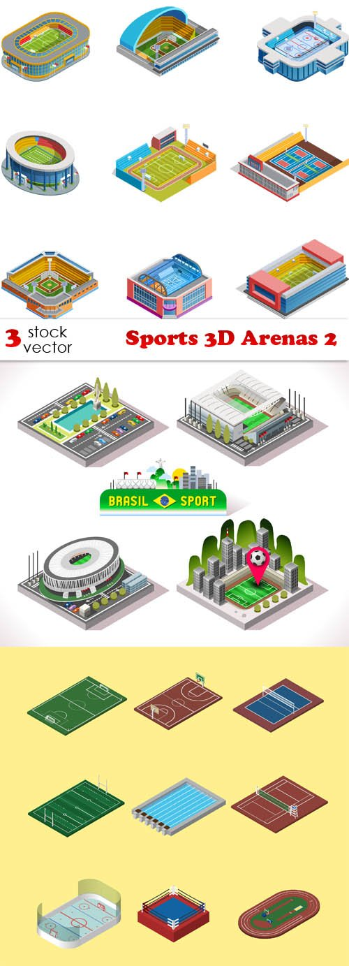 Vectors - Sports 3D Arenas 2