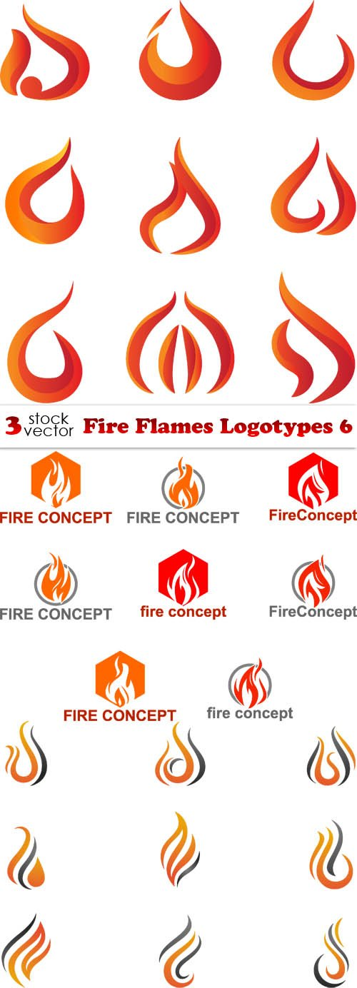 Vectors - Fire Flames Logotypes 6