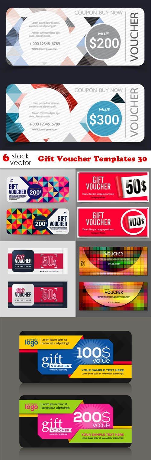 Vectors - Gift Voucher Templates 30