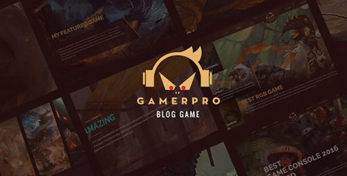 ThemeForest - GAMERPRO v1.0.1 - Fantastic Blog WordPress theme for GAME SITES - 18731569