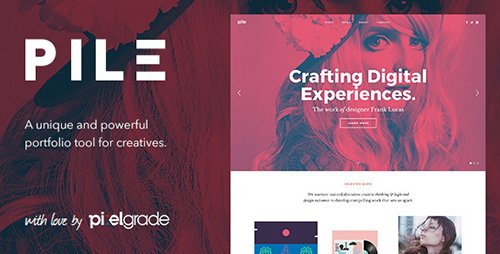 ThemeForest - PILE v2.1.9 - An Uncoventional WordPress Portfolio Theme - 8989183