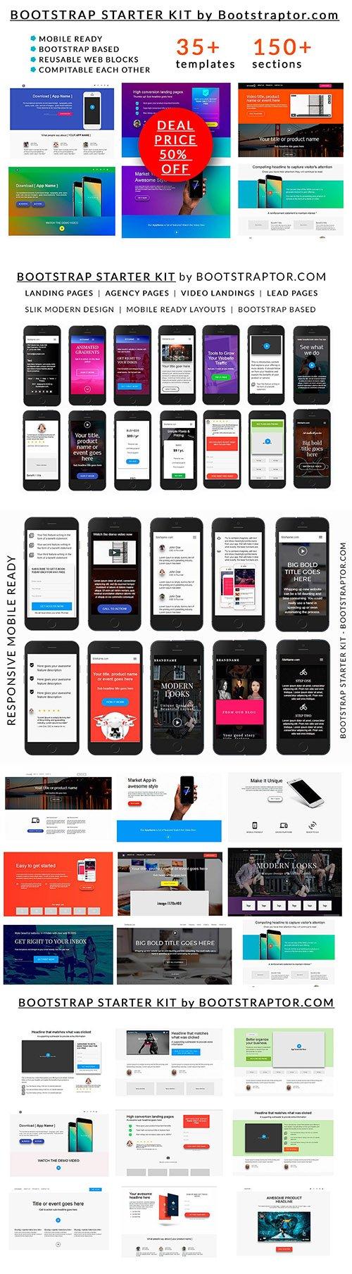 bootstrap starter kit 35 templates cm 1397241 nitrogfx download unique graphics for. Black Bedroom Furniture Sets. Home Design Ideas