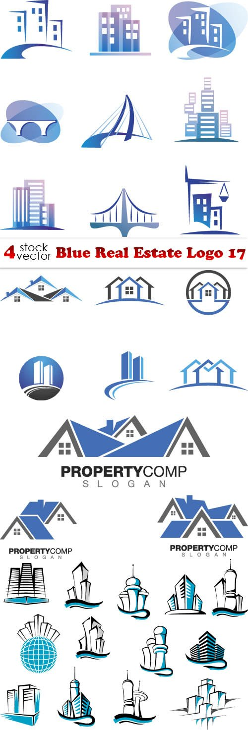 Vectors - Blue Real Estate Logo 17