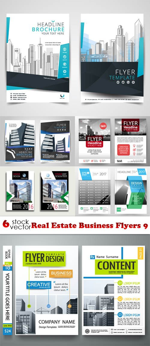 Vectors - Real Estate Business Flyers 9