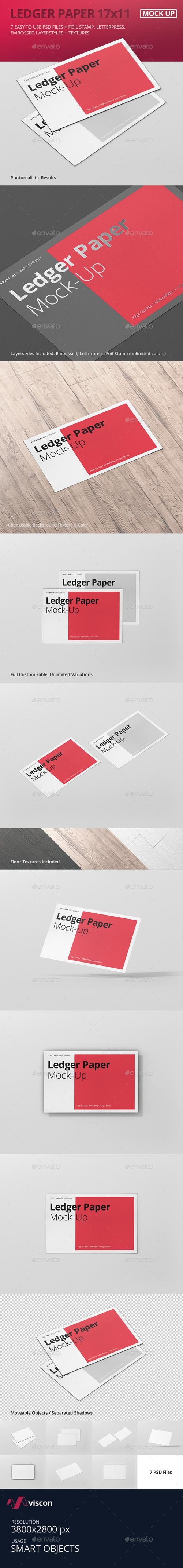 Ledger Paper Mock-Up - 17x11 17566531