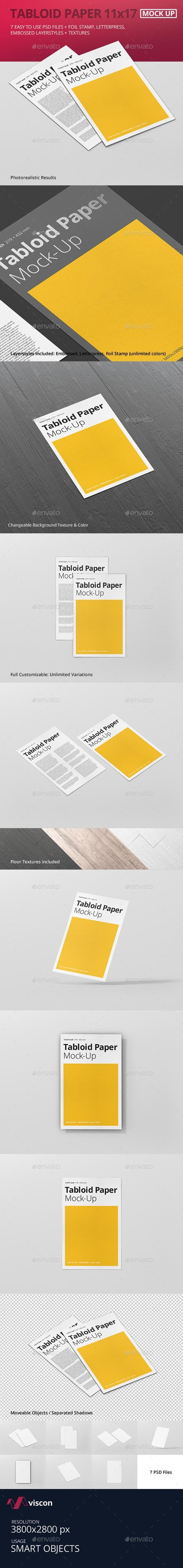 Tabloid Paper Mock-Up - 11x17 17561027