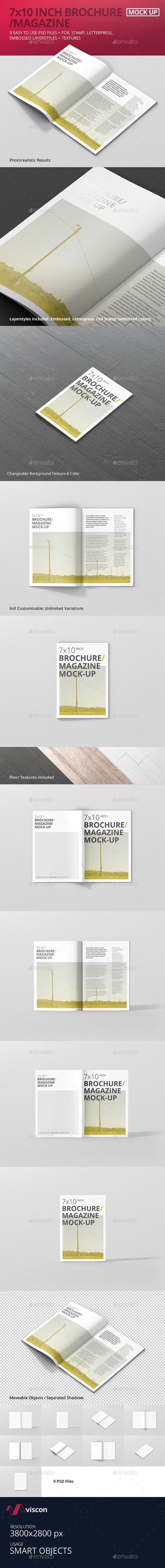 7x10 Brochure / Magazine Mock-Up 17605560