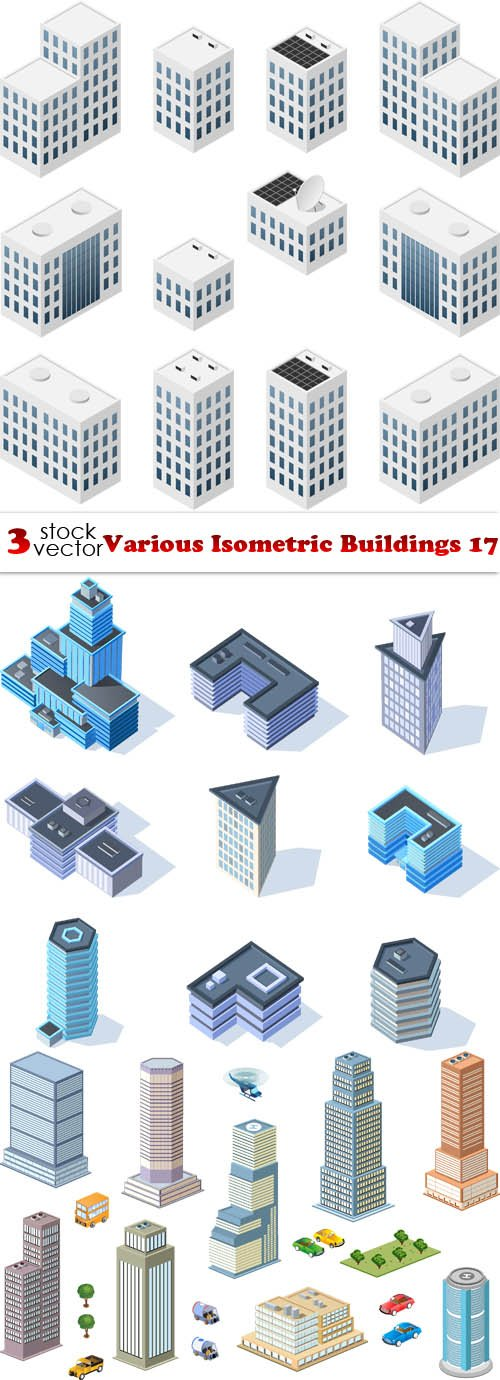 Vectors - Various Isometric Buildings 17