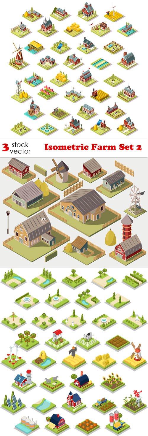 Vectors - Isometric Farm Set 2