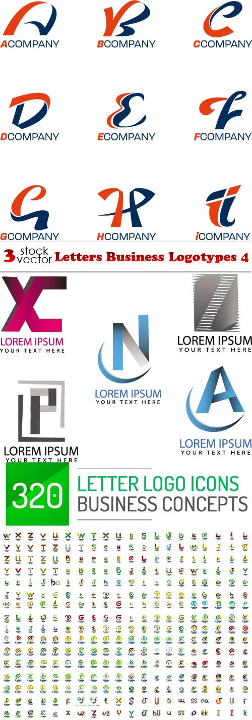 Vectors - Letters Business Logotypes 4