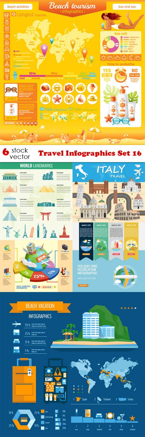 Vectors - Travel Infographics Set 16