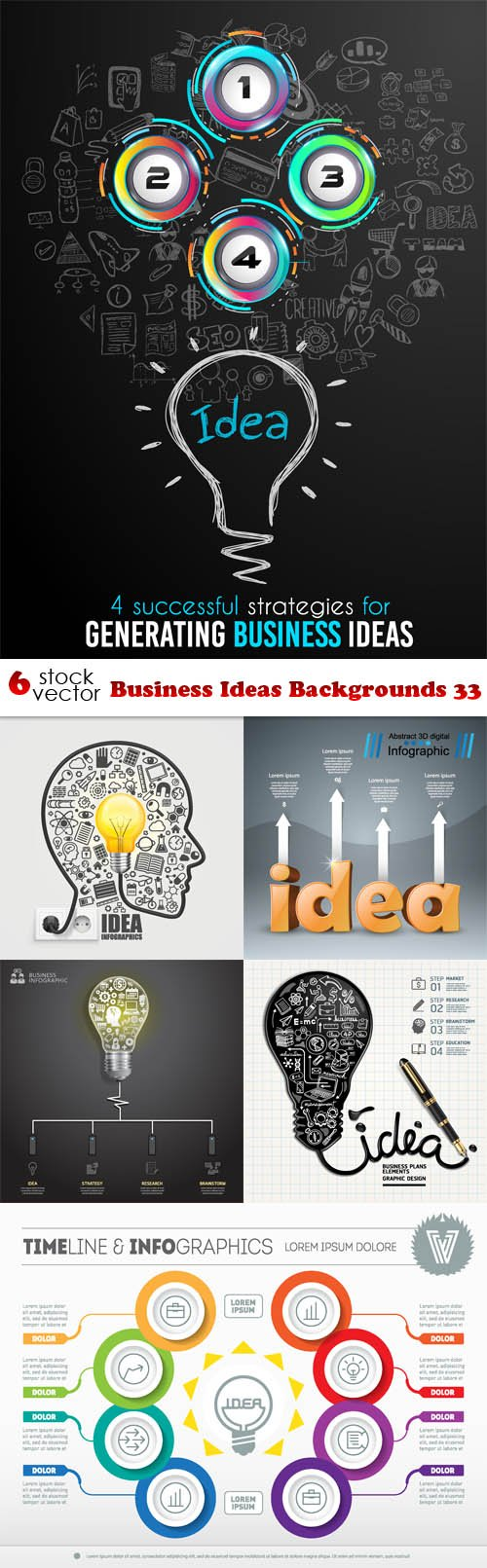 Vectors - Business Ideas Backgrounds 33