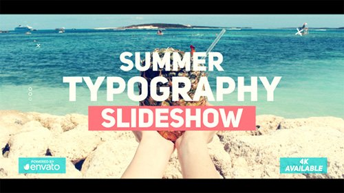 Summer Typography Slideshow - Project for After Effects (Videohive)