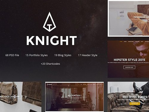 Knight - Corporate and Shop PSD - CM 1154751