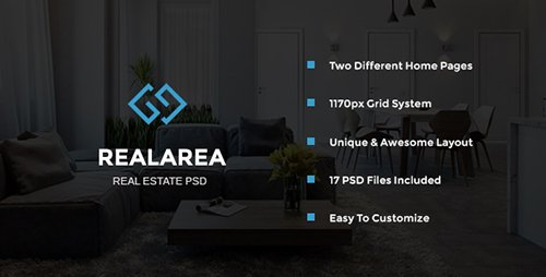 ThemeForest - RealArea - Real Estate PSD Template (Update: 19 October 16) - 18064853