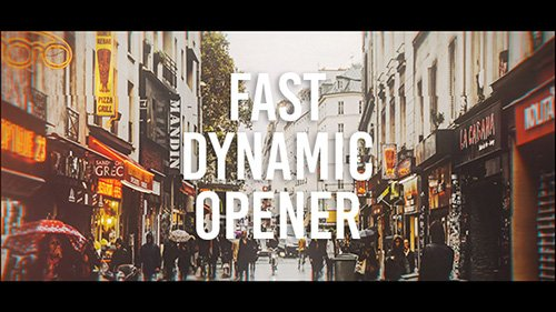 Fast Dynamic Opener 19883857 - Project for After Effects (Videohive)