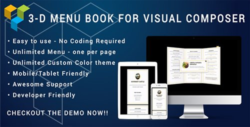 CodeCanyon - Visual Composer - 3D Menu Flyer for Restaurant and Cafe v1.0 - 19884918