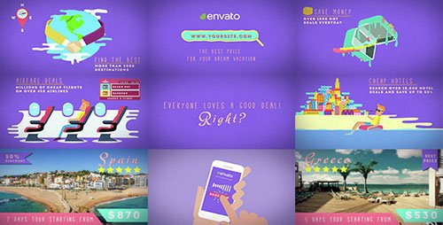 Travel Deals And Discounts - Project for After Effects (Videohive)